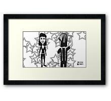 Space Jimmy Significant Mother music video - Sam & Atticus scene Framed Print