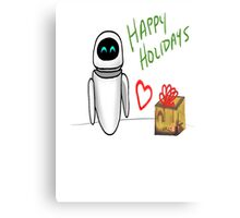 Happy Holidays from Wall-e and Eve Metal Print
