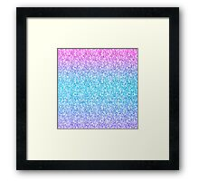 Colorful Retro Glitter And Sparkles Framed Print