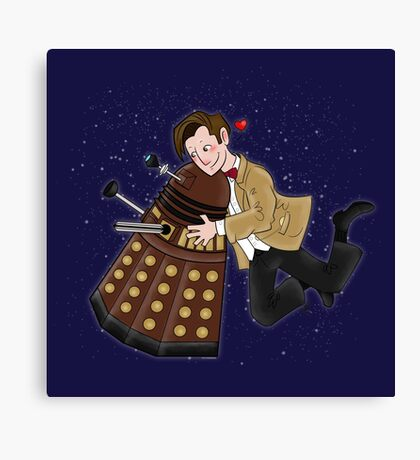 Cute Doctor And Dalek Canvas Print