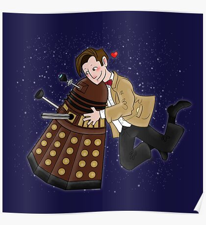 Cute Doctor And Dalek Poster