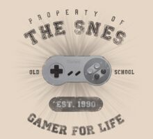 Property of the SNES - Athletic Style Shirt: Dark by thehookshot