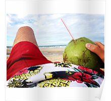 Beach Bumming in Fortaleza, Brasil Poster