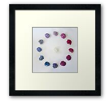 Circle of Hydrangea Framed Print
