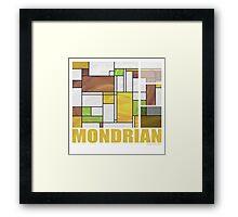 Mondrian Brown Yellow Green  Framed Print