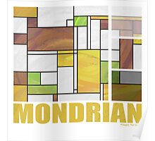 Mondrian Brown Yellow Green  Poster