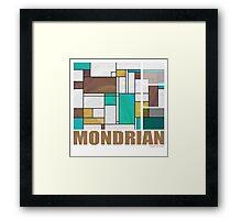 Mondrian Brown Yellow Teal  Framed Print