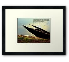 sunk boat Framed Print