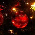 Red ball ornament by kellimays