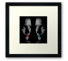 Hot & Cold (black and white/selective color) Framed Print