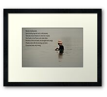 man in water Framed Print