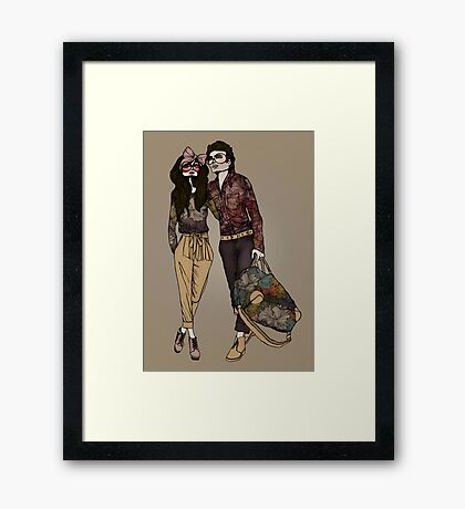 Dollhouse Couple Framed Print