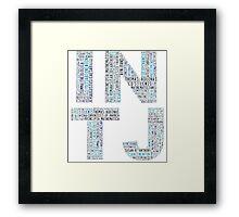INTJ Word Cloud Framed Print