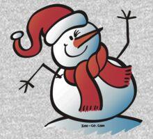 Snowman Waving Hello One Piece - Long Sleeve