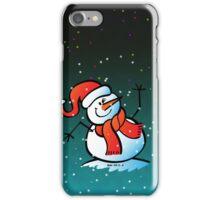 Snowman Waving Hello iPhone Case/Skin