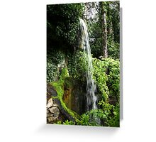 Waterfall in Compton Acres Greeting Card