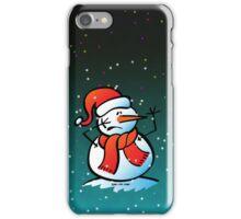 Worried Snowman iPhone Case/Skin