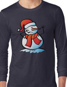 Worried Snowman Long Sleeve T-Shirt