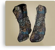 Floral Boots Metal Print