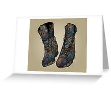 Floral Boots Greeting Card