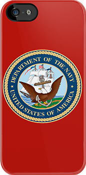 US Navy Emblem - iPhone Case by Buckwhite