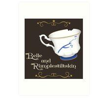 Belle and Rumplestiltskin's cup Art Print