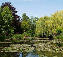 Jardin d'eau à Giverny by Alex Cassels