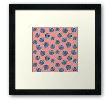 Blueberry pattern Framed Print