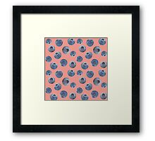 Blueberry pattern Framed Print