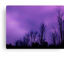Dark purple sky on a cloudy day in Atlanta, Ga Canvas Print