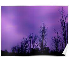 Dark purple sky on a cloudy day in Atlanta, Ga Poster