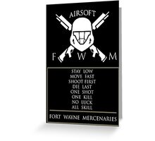FORT WAYNE MERCENARIES Greeting Card