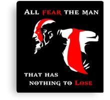 God of War Fear The Man Canvas Print