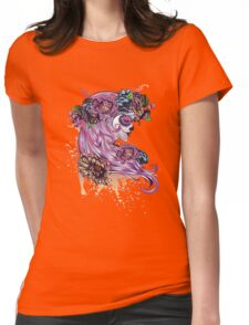 Sugar Skull Girl in Flower Crown Womens Fitted T-Shirt