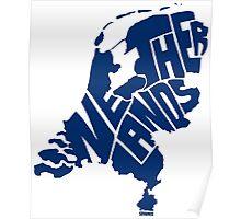 Netherlands Blue Poster