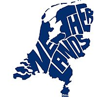 Netherlands Blue Photographic Print