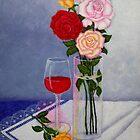 Still life with roses by Madalena Lobao-Tello