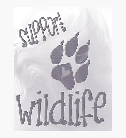 Support Wildlife - Grey Photographic Print