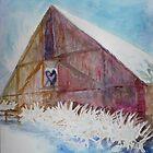 Winter Barn by Jeanne Allgood