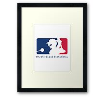 Major League Blernsball (White) Framed Print