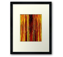 Yellow Light Abstract Forest Framed Print