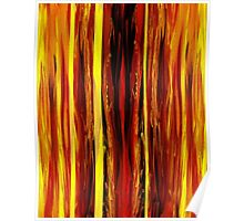 Yellow Light Abstract Forest Poster