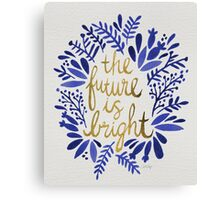 The Future is Bright – Navy & Gold Canvas Print