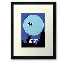 8-Bit E.T. Framed Print