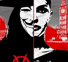 v for vendetta minimal poster by Zoe Toseland