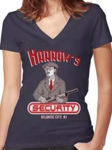 Harrow's Security Women's Fitted V-Neck T-Shirt