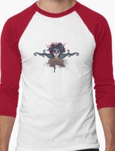 Sugar Skull Girl in Flower Crown 2 Men's Baseball ¾ T-Shirt