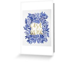 That's Life – Gold & Blue Greeting Card