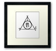 Deathly Hallows, TARDIS, music Framed Print