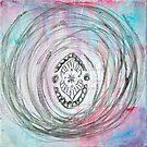 Black Lined Mandala by Kendra Kantor